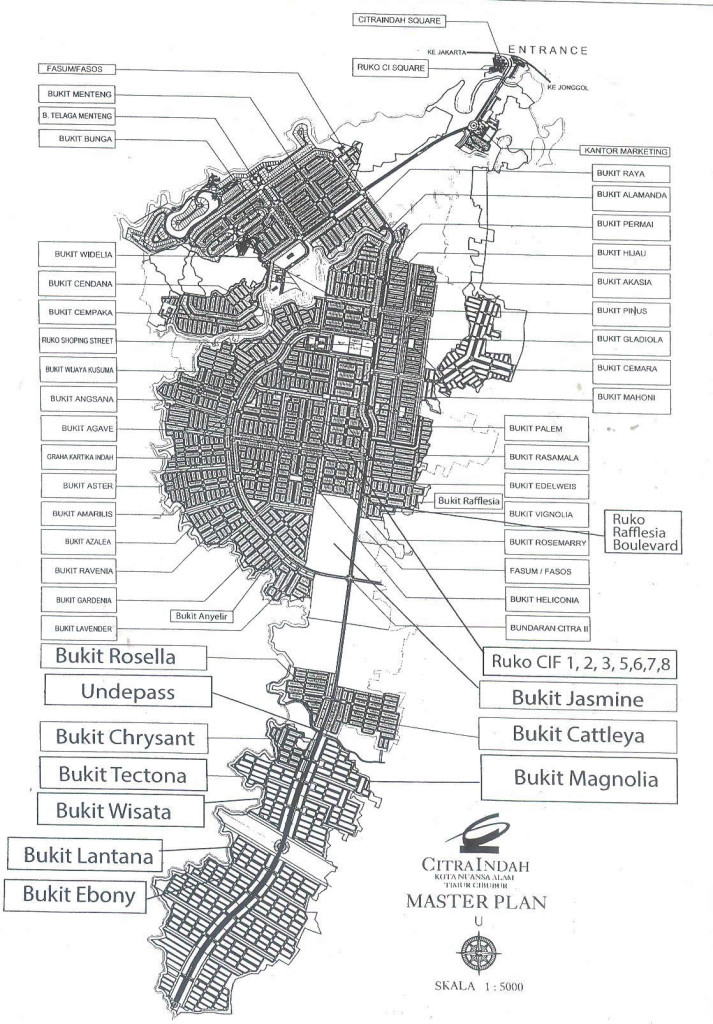 master plan citra indah city 800ha